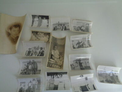 Lot of 14 Vintage Black and White Photos African American Men, Women, Children