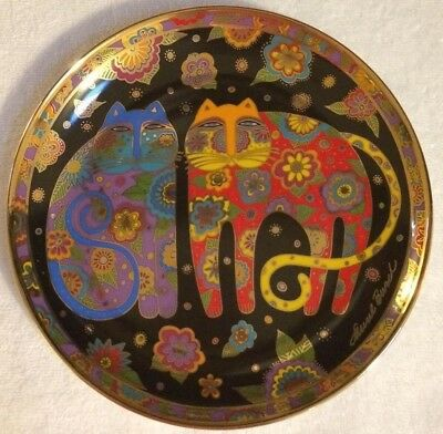 Laurel Burch NEW Collector Limited Edition Porcelain Plate Flowering Felines