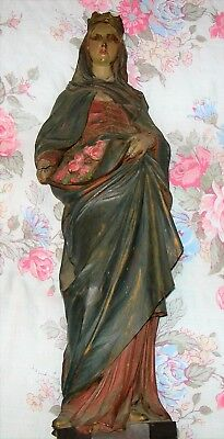 Vintage Madonna/lady Statue - As Found - Wooden