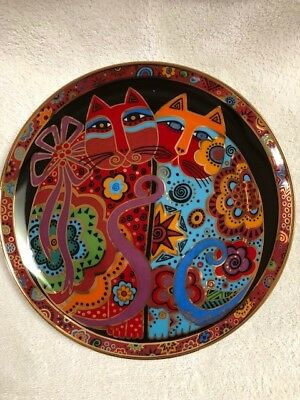 Laurel Burch NEW Collector Limited Edition Porcelain Plate Cheek to Cheek
