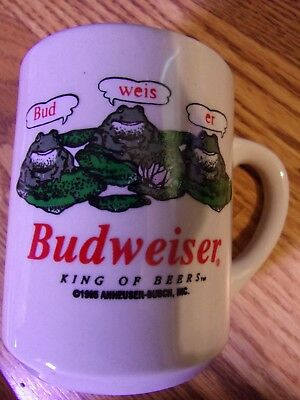 Budweiser Frogs coffee mug 1995--Great Condition