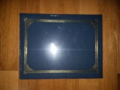 5 pk. Award Certificate Document Cover Holds 3 Sizes Blue w/Gold
