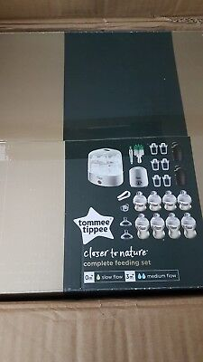 Tommee Tippee Complete Starter kit Baby Feeding Set (Closer to Nature) White