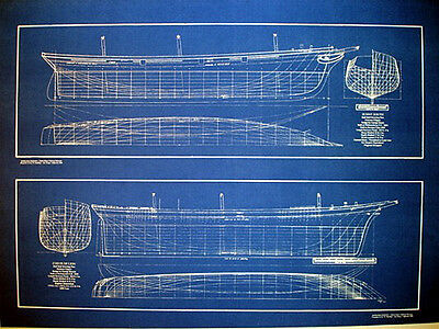 Ships Half Hull Model Blueprint Plans 1854 20x28 (279)