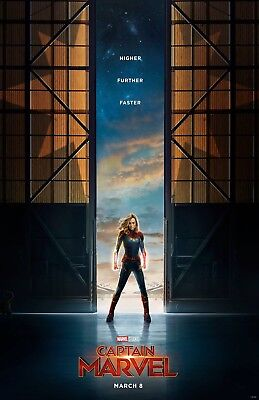 CAPTAIN MARVEL 11x17 MOVIE POSTER COLLECTIBLE