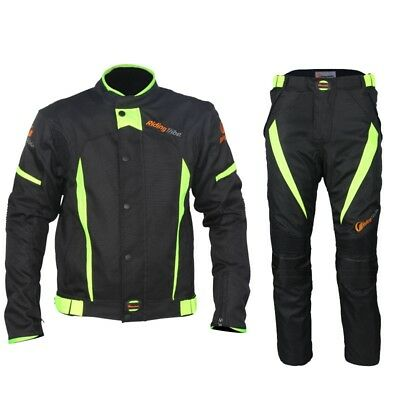 Motorcycle Clothing Set Mens Womens Windproof Jacket Suit With Protective Gear