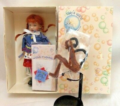 Kish & Co Little Pippi And Monkey Riley's World Doll Limited Edition New