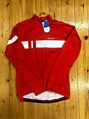 Giant Podium LS Thermal Jersey - Red - Size XXL
