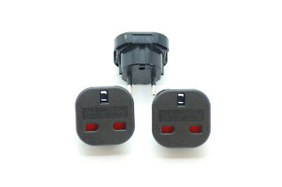 3 Pieces UK TO EU 2 PIN  Power Plug, Travel Wall Adapter,fire proof,ce certified