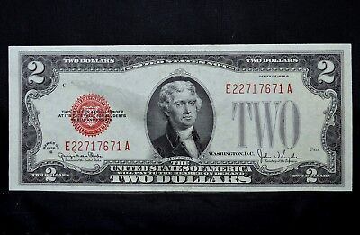 1928-G $2 United States Note ✪ Uncirculated W/ Smudge ✪ Legal Tender ◢Trusted◣