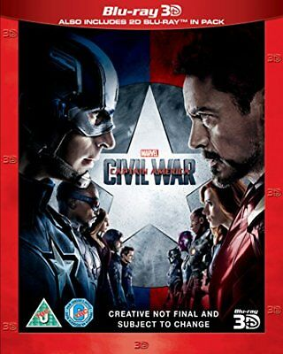 Captain America: Civil War [Blu-ray 3D] [2016] [DVD][Region 2]