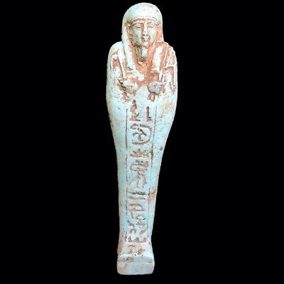 EGYPTIAN HIEROGLYPHIC SHABTI, LATE PERIOD 664 - 332 BC LARGE (4) Over 17cm