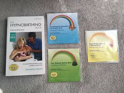 The Hypnobirthing Book By Katharine Graves And Supporting CDs