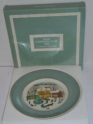 Avon 1980 Christmas Plate Series 8th Edition Country Christmas collector plate