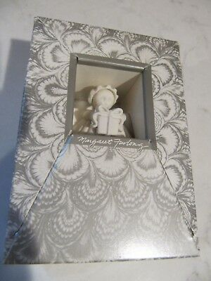 "3"" Margaret Furlong 1991 Gift Porcelain Shell Angel Ornament Mint in Orig Box"