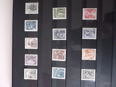 Czechoslovakia 1954 Mint Set Some With No Gum 1.60 Back Marked
