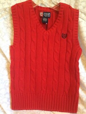 Boy's Chaps Cable Sweater Vest - Size 4/4T - NWT