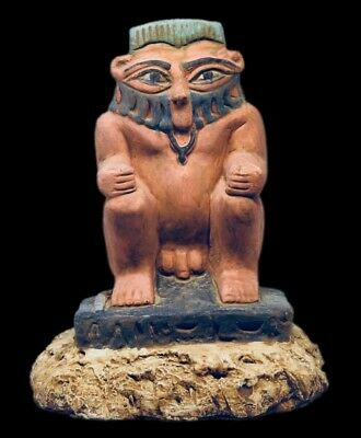 BEAUTIFUL STATUE OF THE EGYPTIAN GOD BES, circa 664-332 bc