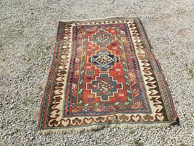 Antique Caucasian Kazak Bordjalou rug