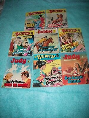 BUNTY/JUDY/DEBBIE/MANDY PICTURE STORY LIBRARY BOOKS x 8 from 1970's and l980's
