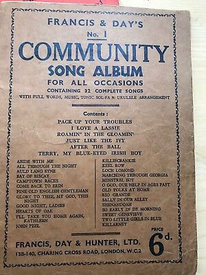 Francis & Day's Community Song Albums