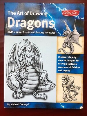 The Art Of Drawing Dragons By Michael Dobrycki 2009 Good Condition