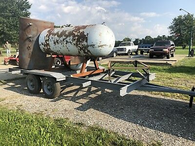 "Perfect Smoker Project 500 Gallon 8 Ft X 3 Ft 1/2""Thick W/trailer And Extra Tank"