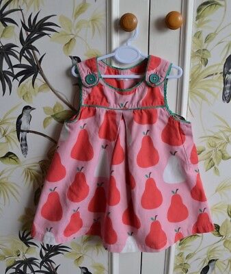 Boden Baby Girl Red Dress with Matching Knickers 6-12 Months