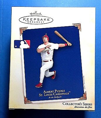 "Hallmark ""Albert Pujols"" St. Louis Cardinals Ornament 2005"