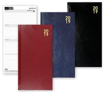 2019 Slimline Week To View Diary Christmas Home Office WTV W2V Hardback Slim