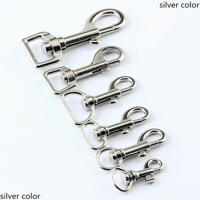 Trigger Clips Snap Hooks Bag Charm Lobster Clasps Swivel Keychain Silver 1-100X