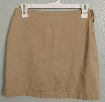 Lands End Girls Uniform Skirt With Shorts Size 14 S