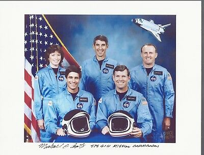 Autograph, Hand Signed Sts-61H Pilot Astronaut  Mike Coats, Cancelled Mission