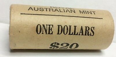 "1984 R0YAL AUSTRALIAN MINT ROLL - $1 Dollar Coins - ""1st Year of Issue"" UNC. H/T"
