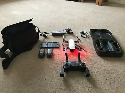 DJI Spark Fly More Combo Alpine White Aircraft With 3 Batteries