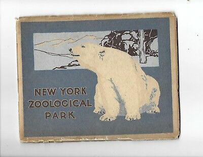 1912: NY ZOOLOGICAL PARK BOOK Of VIEWS 1st.Ed., 74 COLOR PHOTOS, Clean & SCARCE
