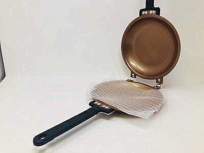 Pancake Flip Pan Double Sided Non-Stick 2 in 1 Gas Electric Copper Pan Saute Fry