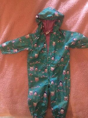 Mini Club Girls Splashsuit Puddlesuit All In One Waterproof 12-18 Months