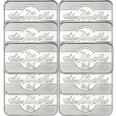 1 oz SilverTowne Mint Signature Silver Bar 999 Fine LOT of 10 sealed in plastic