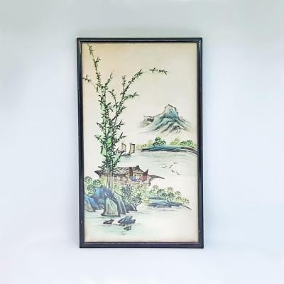 Antique Chinese Hand Painted Painting on Silk