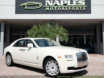2010 Rolls-Royce Ghost  Original MSRP $315k Cornish White on Seashell Drivers Assistance 3 Pano Roof