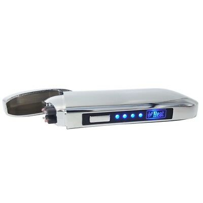 LED Heat Double Arc Arch Rechargeable USB Electric Pulse Plasma WindproofLighter