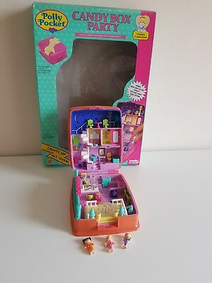 Polly Pocket Candy Box Party Playset with Box Vintage