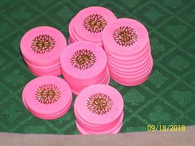 Paulson Casino Chips, Starburst Cancelled (Total 50 Pink )