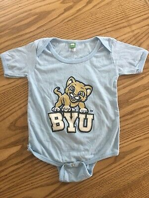 BYU Cougar Short Sleeve Baby One Piece NEW