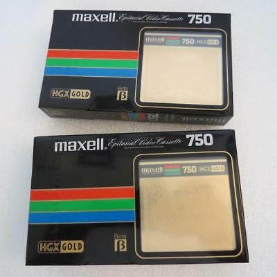 2 pcs Maxell HGX Gold 750 Video Cassette Blank Tape New, Sealed Made in Japan