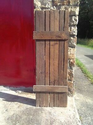 Antique Wood Shutter/Storm Door ,,Maybe Barn Wood?