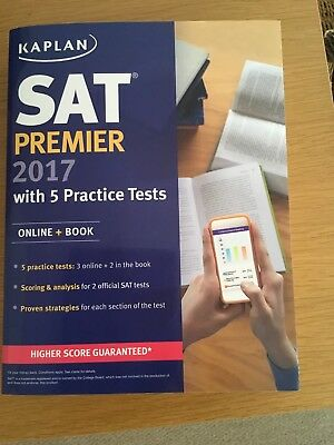 SAT Premier 2017 with 5 Practice Tests: Online + Book by Kaplan (Paperback /...