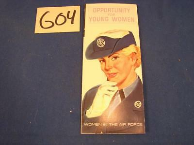 G04 Vintage 1960's Us Air Force Women's Recruiting Brochure
