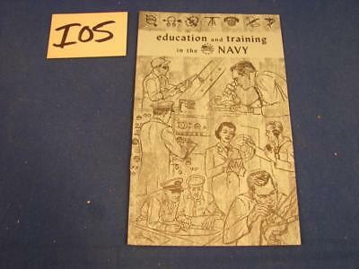 I05 Vintage 1960's Us Navy Recruiting Brochure Education And Training